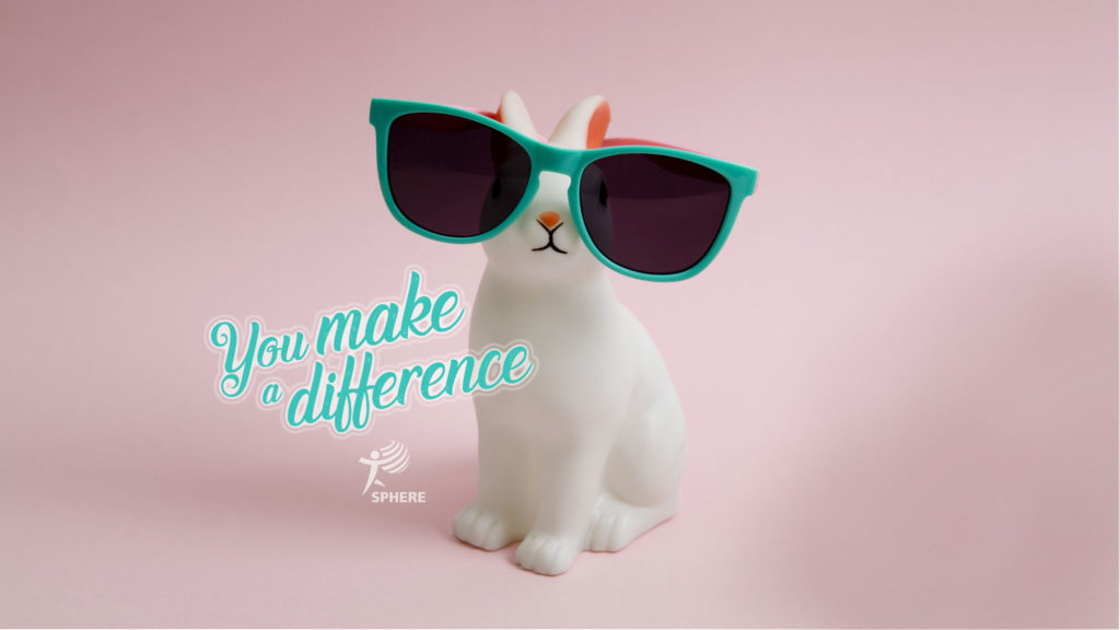 Rabbit with mention You make a difference.