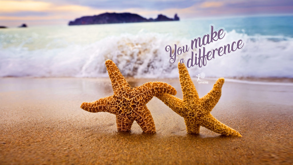 Starfish with mention You make a difference!